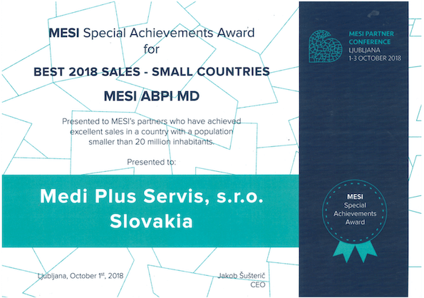 Medi plus servis Special Achievements Award
