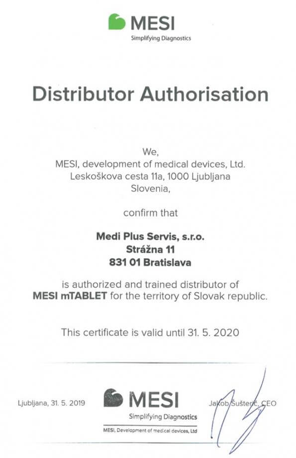 Mesi mtablet distributor authorisation